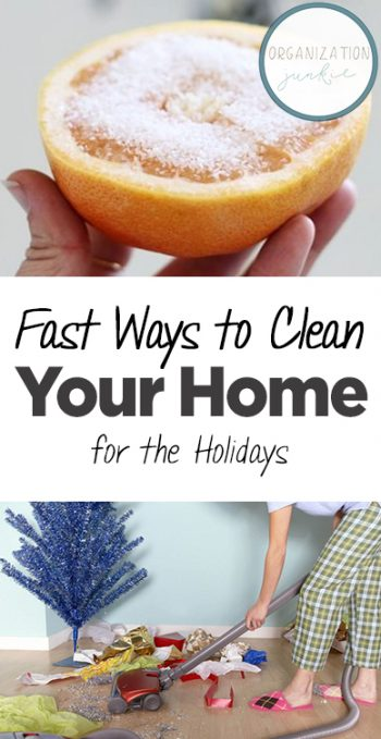 Fast Ways to Clean Your Home for the Holidays| Cleaning, Cleaning Hacks, DIY Clean, Cleaning Tricks, Fast Cleaning Tricks, Cleaning 101, Home Cleaning Tips #Cleaning #HomeCleaningHacks #CleanHome