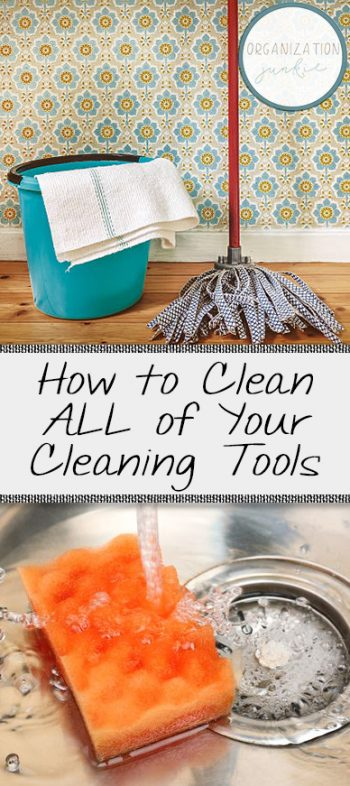 How to Clean ALL of Your Cleaning Tools| Cleaning, Cleaning Hacks, Cleaning Tricks, Cleaning Tricks for the Home, Home Cleaning Hacks, Clean Your Cleaning Tools #Cleaning #CleaningHacks #CleaningTips