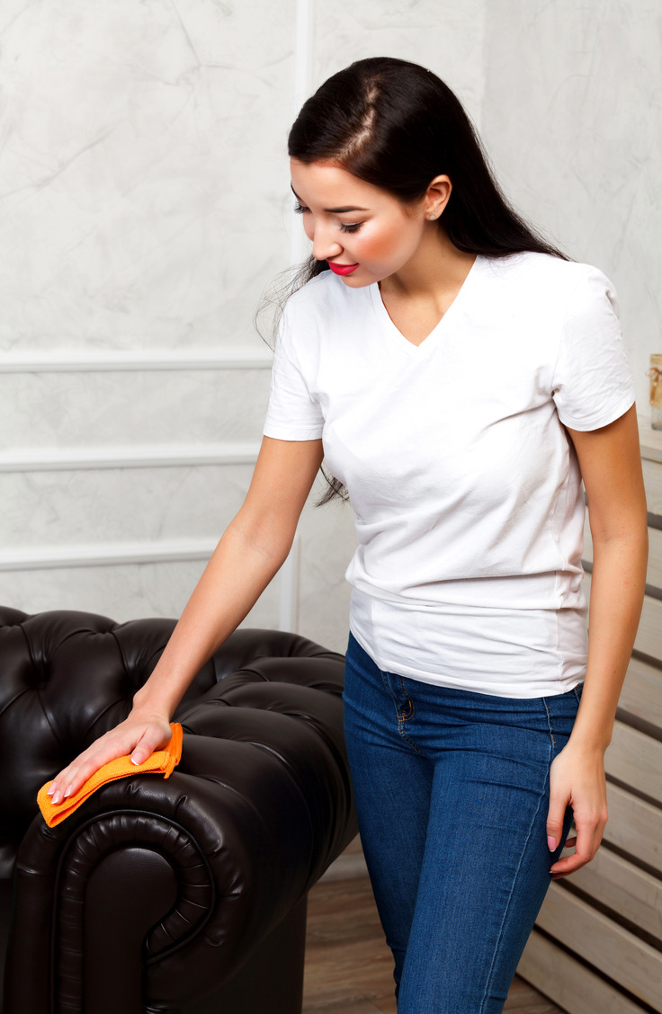 There is nothing worse than cleaning a really dirty leather couch! Learn how to clean a leather couch like a pro!