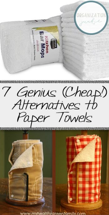 7 Genius (Cheap!) Alternatives to Paper Towels| Paper Towel Alternatives, Cheap Paper Towels, Home Hacks, Cleaning, Cleaning Hacks, DIY Clean #Cleaning #PaperTowels