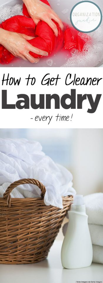 How to Get Cleaner Laundry — Every Time!  Laundry, Laundry Hacks, Clean Laundry, Clean Laundry Hacks, Cleaning, Cleaning Hacks, Clean Laundry Hacks, Laundry Tips and Tricks, Popular Pin #Laundry #LaundryHacks #Cleaning