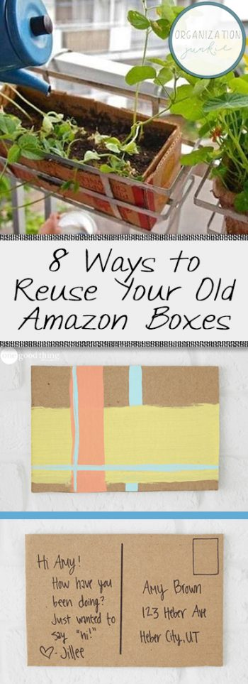 8 Ways to Reuse Your Old Amazon Boxes| Repurpose, Repurpose Projects, Amazon Boxes, Amazon Box Repurpose Projects, DIY Repurpose Projects, Easy Repurpose Projects, How to Reuse Amazon Boxes, Popular Pin #Repurpose #RepurposeProjects #DIYRepurposeProjects