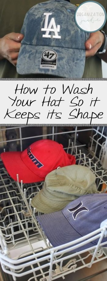 How to Wash Your Hat So it Keeps its Shape| Laundry, Laundry Hacks, Laundry Tips, Laundry Tips and Tricks, Cleaning, Cleaning Hacks, Clean Home Hacks, Hat Washing, Wash Your Hats, Populat Pin #HatWashing #Cleaning #CleaningHacks