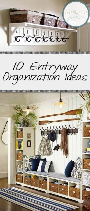 10 Entryway Organization Ideas|  Organization Ideas, Organization Ideas for the Home, Entryway Organization, Entryway Organization Ideas, Entryway Organizer