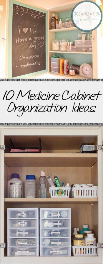 10 Medicine Cabinet Organization Ideas