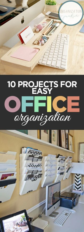 10 Projects for Easy Office Organization| Organization: Organization Ideas, Office Organization DIY, Office Organization, Office Organization Ideas, Organization Ideas for the Home, Organization DIY, Organization Hacks