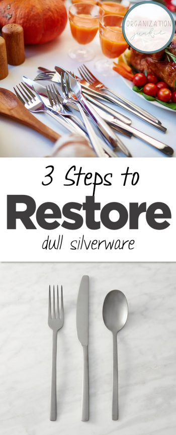3 Steps to Restore Dull Silverware| Cleaning, Cleaning Hacks, Cleaning Tips, Clean Home Hacks, Clean Home Tips, Clean Home Tricks, Popular Pin