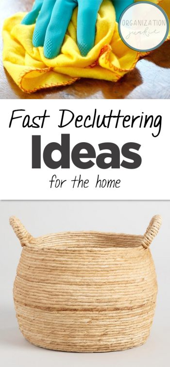 Fast Decluttering Ideas for the Home| Decluttering Ideas, Declutter and Organize, Decluttering Ideas for the Home, DIY Decluttering, Quick Decluttering Ideas, Home Organization Ideas