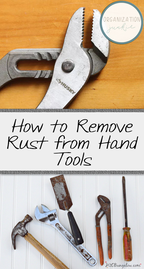 how to remove rust from hand tools organization junkie. Black Bedroom Furniture Sets. Home Design Ideas
