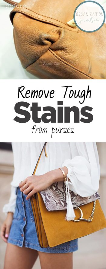 Remove Tough Stains from Purses| Remove Stains from Purses, Stain Removal Guide, Stain Removal Guide Laundry, Cleaning, Cleaning Tips, Cleaning Hacks, Laundry Stain Remover, Laundry Stain Remover DIY, Stain Remover DIY