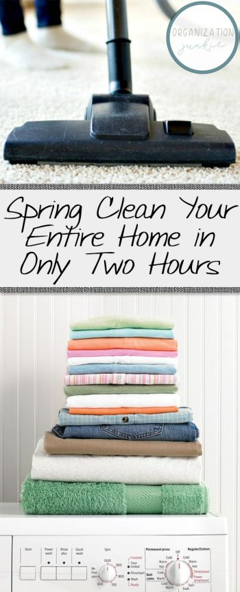 Spring Clean Your Entire Home in Only Two Hours| Spring Cleaning, Spring Cleaning Checklist, Spring Cleaning Tips, Spring Cleaning TIps and Tricks, Cleaning, Cleaning Hacks, Cleaning Tips