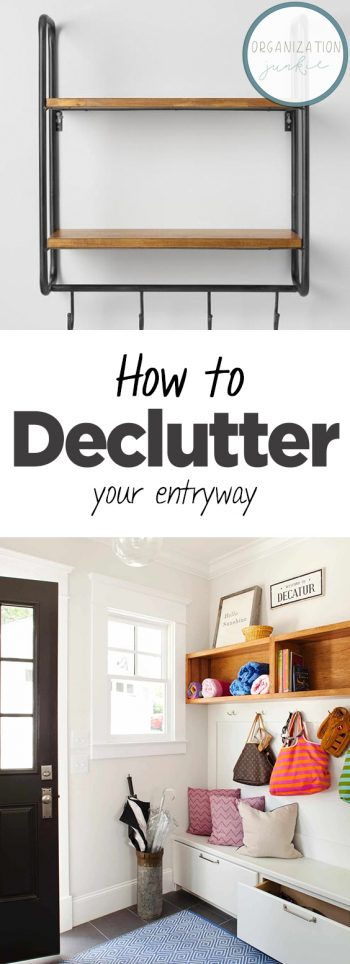 How to Declutter Your Entryway  Decluttering Ideas, Declutter and Organize, Decluttering Home, Decluttering Ideas Feeling Overwhelmed