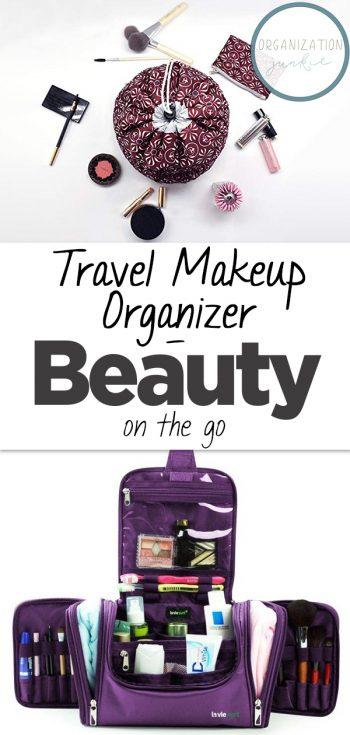 Travel Makeup Organizer | How to Organize Makeup On The Go | On The Go Organization | Makeup | Travel Makeup Organization