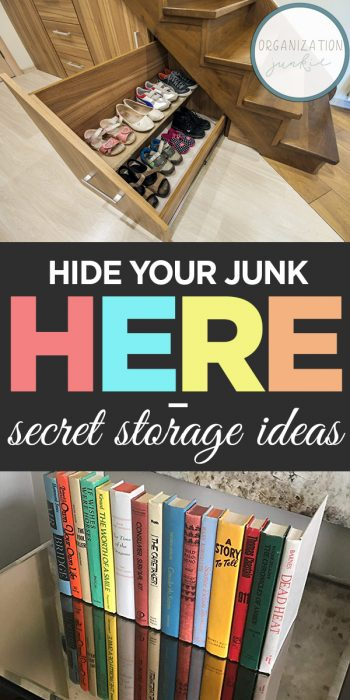 Storage Ideas | DIY Storage Ideas | Secret Storage Ideas | Organization | Organize your Junk | DIY Organization