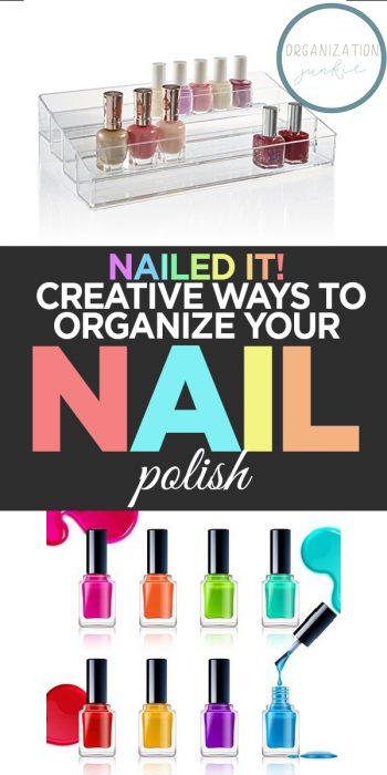 Organize Your Nail Polish | Organize Nail Polish | Organized Nail Polish Hacks | Nail Polish Organization | Nail Polish Organization Hacks | Nail Polish Organization Tips and Tricks