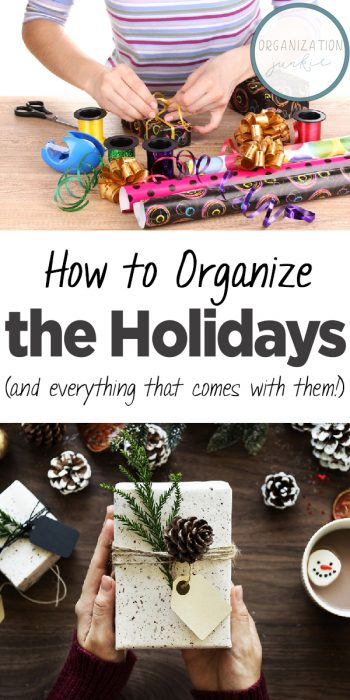 Holidays | Organize the Holidays | How to Organize the Holidays | Tips and Tricks to Organize the Holidays | Holiday Organization | Christmas Organization | Holiday Stress Relief