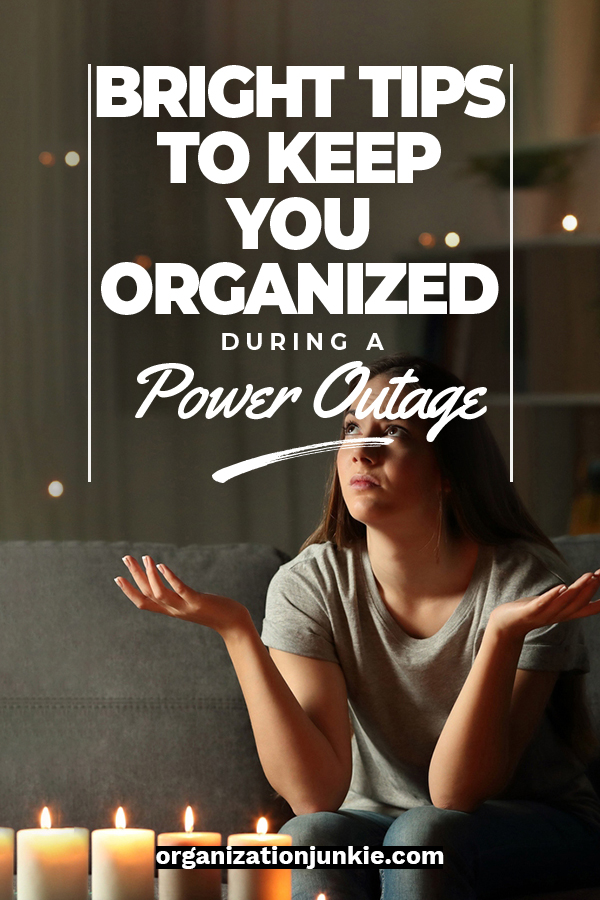 There's nothing worse than not being prepared for a power outage. In this day and age we almost don't know how to function when the lights go out. I've got some bright tips to help you stay organized during this situation. Tips about kits, food and more that make you feel prepared.