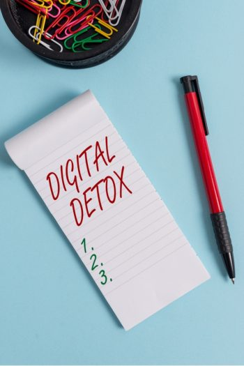 A self-care routine should also include a digital detox.