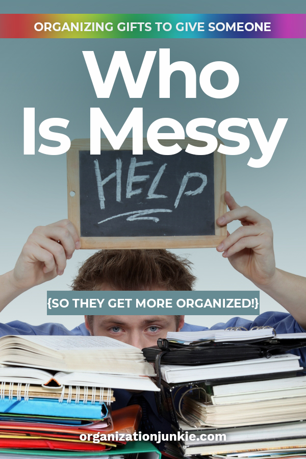 Do you know someone who is messy? I think we all do. This Christmas why not give them a gift that helps them get a little more organized and takes away stress at the same time. We have some great gift ideas for that person. Do someone a huge favor with these Christmas gift suggestions. #christmasgiftideas #organization