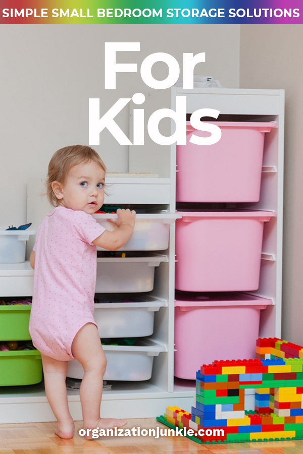 Do you feel like you are in a storage war with the small bedroom your kids live in? Do you always feel like nothing is in its place? I feel your pain so that is why I want to share these small bedroom storage solutions for kids. No more will you feel like you need to fight the space, but instead you work with it to make it functional. Let us take a little stress away from you with these storage/organization ideas. #smallbedroomstorageideas #storageideasforkidsrooms