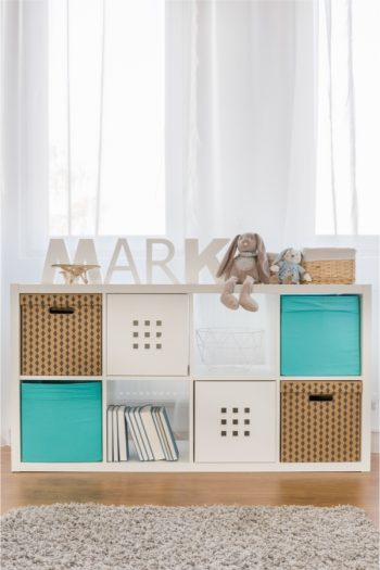 If your kid has a small bedroom, why not try cube organizers? Look here for more simple small bedroom storage solutions for kids.