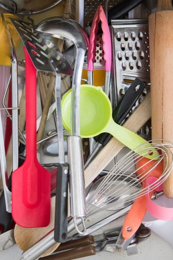 one of the best home organization tricks to master is how to quickly declutter drawers. See how much easier your cooking goes when you declutter your kitchen drawers.
