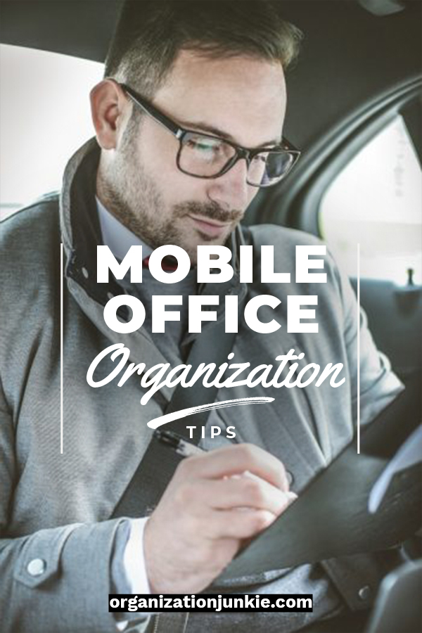 Are you on the go while you work? It's becoming more and more popular these days. Your office has to be on the go with you, but that presents a few challenges as well. If you need some organization tips for your mobile office, just keep reading. These tips will help you with things like your car, bags to carry things in and more. Just because you are on the go doesn't mean you can't be organized. #mobileofficeorganizationtips #stayorganizedonthego #organizationtips