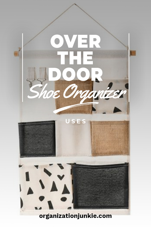 I love shoes. So, I have a lot of over the door shoe organizers so I can actually walk in my closet. But, I also have these organizers in many other areas of the house because while they work great for shoes, they also work well for items in your bathroom, kitchen pantry and more. Keep reading to learn where and why you should use over the door shoe organizers all over the house. #organizationtips #overthedoorshoeorganieruses #wheretouseoverthedoorshoeorganizers
