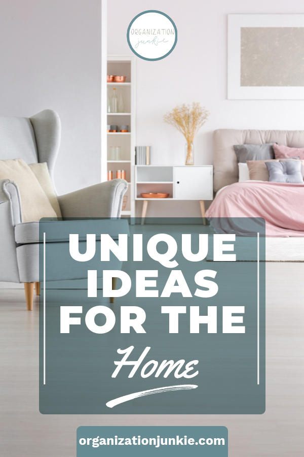 It's time to get clever with these unique ideas for the home. Using every day household items, this post will teach you about the amazing things those items can do that you never thought of. You know you are curious. Read the post! #organizationjunkie #uniqueideas #organizationideas  #cleaningideas