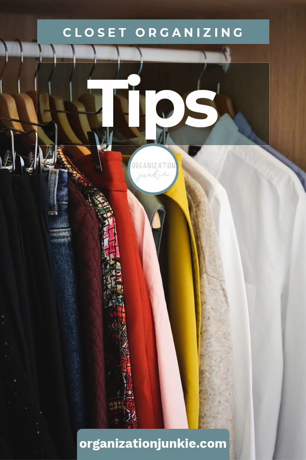 Ridiculously brilliant closet organizing tips for all the closets in your house, including small closets and linen closets. Learn the 4 easy steps to organize any closet. #organizationjunkieblog #closetorganizingtips