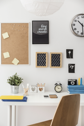 An organized home office is important not just for productivity, but also for your comfort and convenience. Here is where you'll find all my best ideas for home office organization--including how to be organized when you're working on the go!