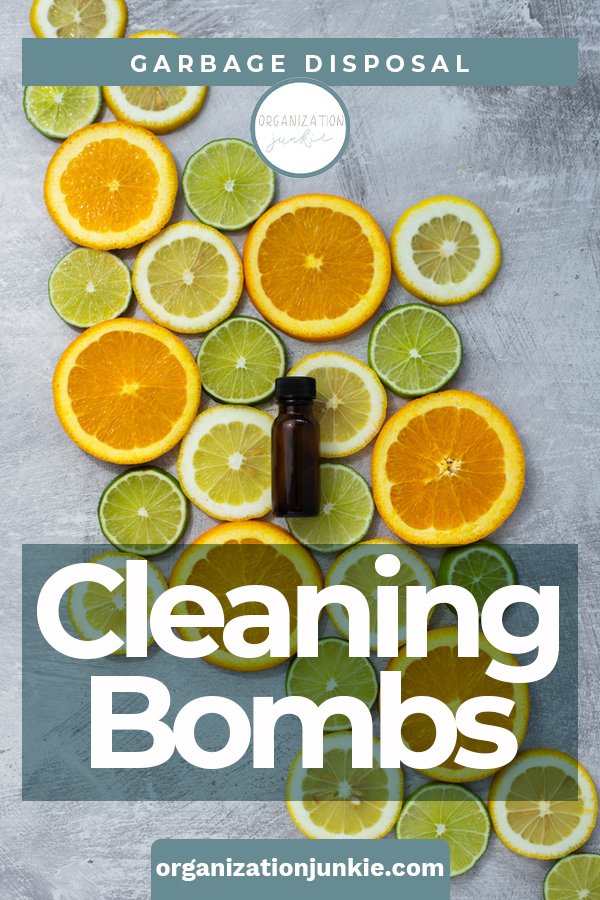 Nasty odors from your garbage disposal are no match for DIY garbage disposal cleaning bombs! Made with simple ingredients that blow up those nasty odors in seconds. #organizationjunkieblog #garbagedisposalcleaningbombs #DIYcleaningbombs
