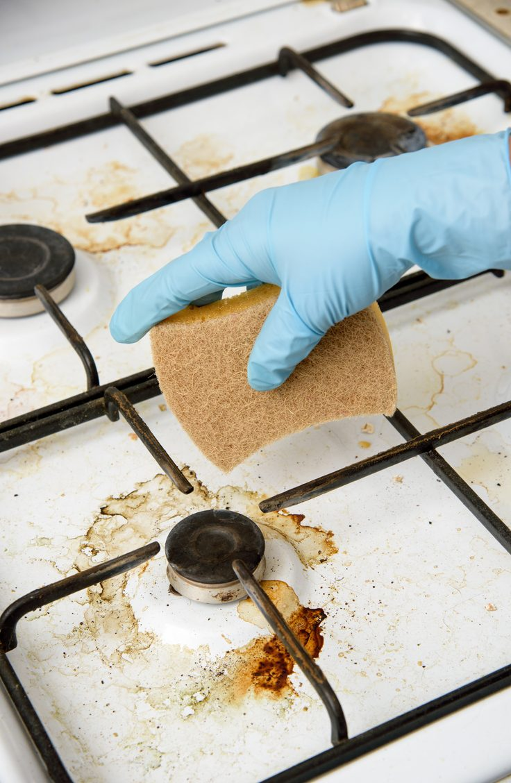 Conquer kitchen grease with an easy, two-ingredient homemade degreaser cleaner. Your kitchen will be cleaner than ever before!