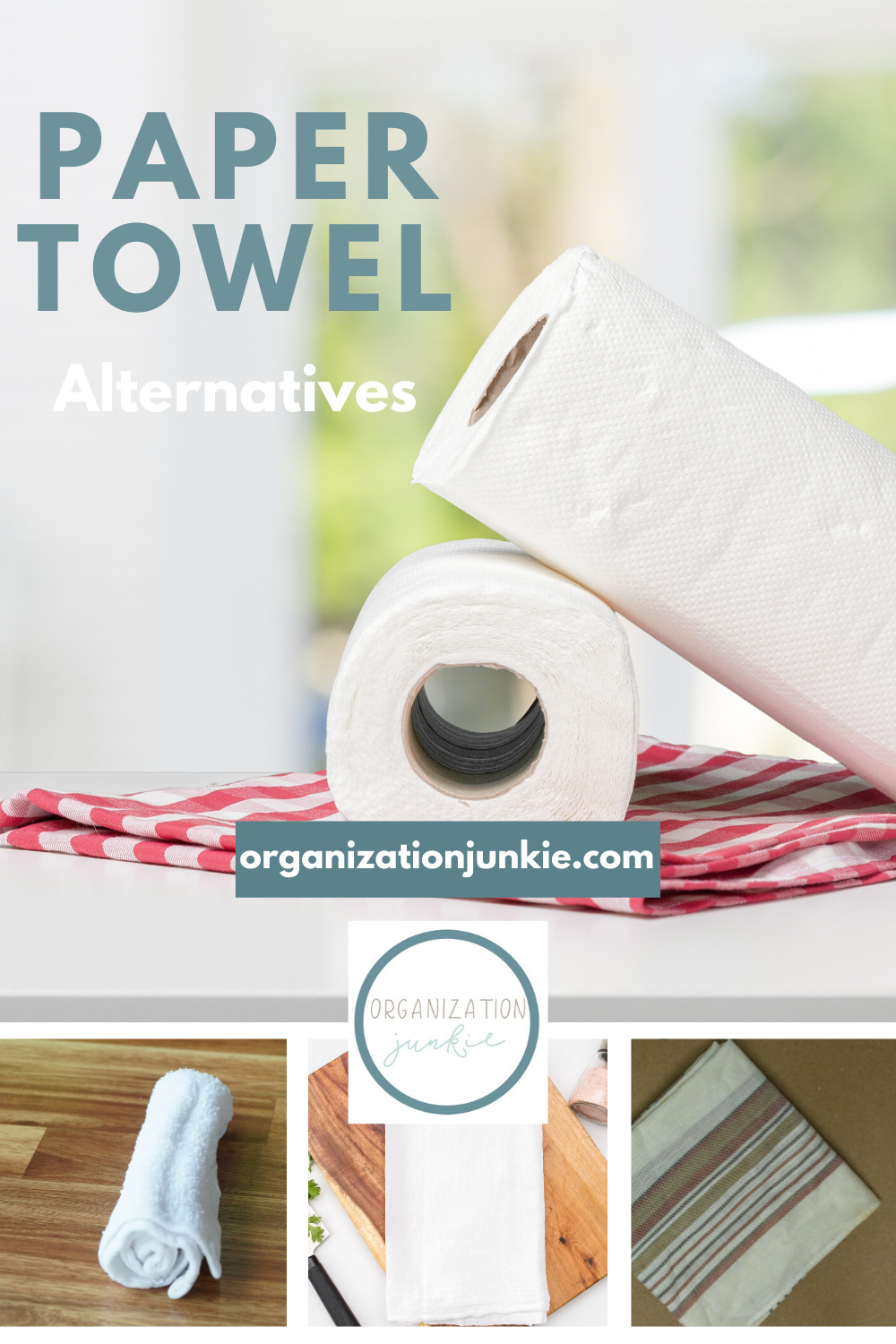 Paper towels tax the environment and are not cheap. There are plenty of alternatives that you can use. And some you can make. Read the post to learn about these money saving ideas that are sustainable as well. #papertowelalternative #Diypapertowelalternative