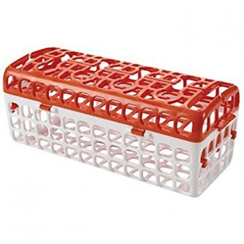 Better baby bottle organization can be yours with one of these 8 fantastic products! This dishwasher basket will help you not lose things while they're washing.