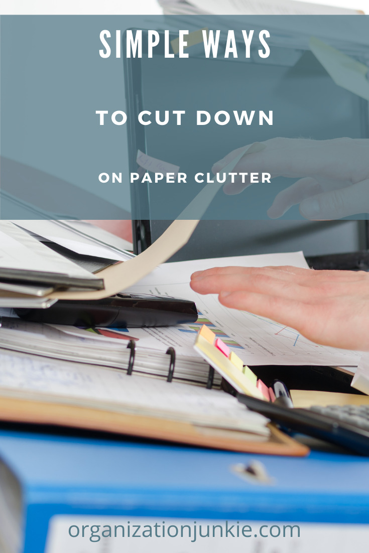 Organizationjunkie.org will help you get your home and life organized so you can live stress free! Everyone knows how overwhelming paper clutter can become as it starts to build up. These simple methods will get rid of your paper clutter today!