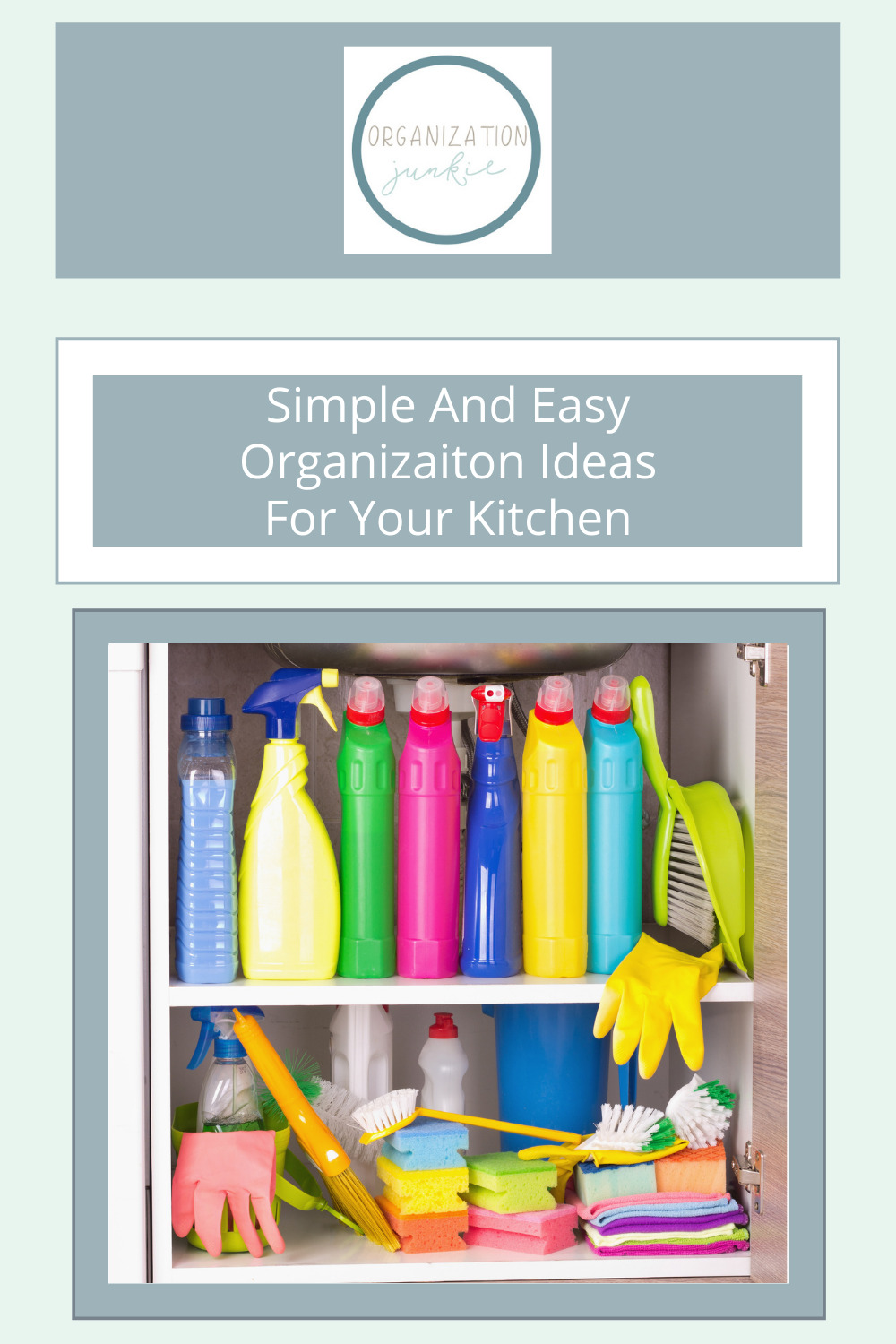 Organizationjunkie.com has all of the cleaning and organization solutions you've been missing in your life. Tackle all that tricky clutter you've been putting off right away. Keep your kitchen tidy with these simple organization hacks!
