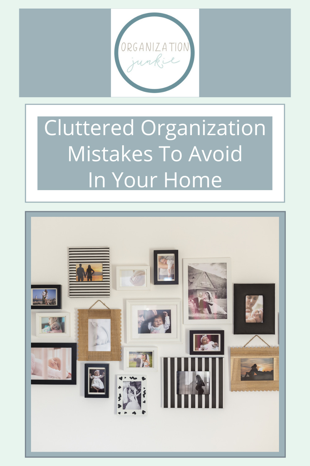 Organizationjunkie.com is the place to go for simple and effective organization ideas! Stop letting your clutter build up and tackle those messes today. Before you get started, make sure to check these cluttered organization mistakes you need to avoid.