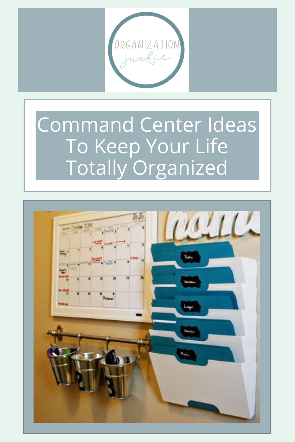 Organizationjunkie.com has the best solutions for organizing your home and life. Command centers have the best of both worlds! Check out these awesome and efficient command centers now.