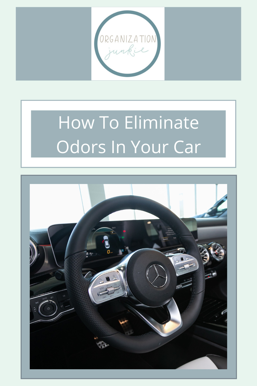 Organizationjunkie.com will help you relax with tips for cleaning and organizing EVERYTHING. Find solutions for tricky messes and smells. Get rid of funky odors in your car with these simple ideas today!