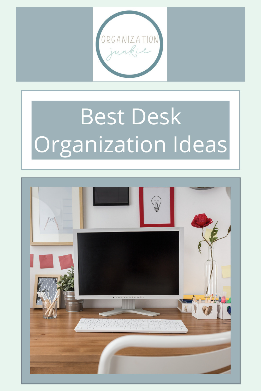 Organizationjunkie.com wants to help you clean and organize your desk. No more clutter. A place for everything and everything in its place. Keep reading for some excellent but easy desk organization ideas.