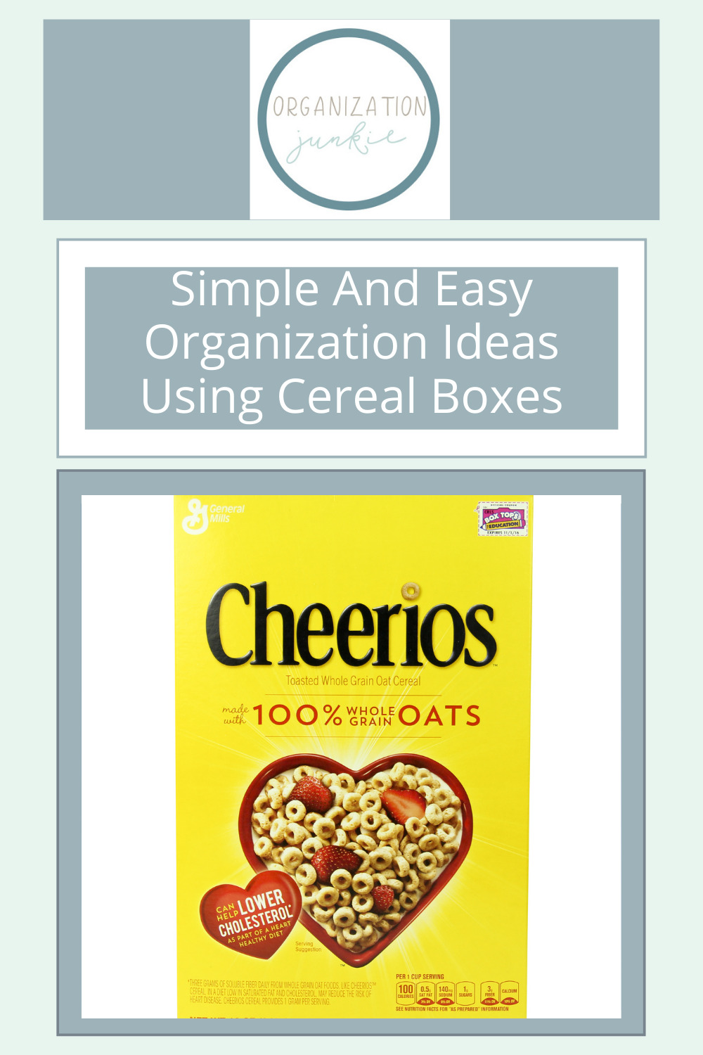 Organizationjunkie.com makes decluttering a breeze! Check out the most creative ideas for tackling the messes in your life. Save your cereal boxes and try out these genius organization ideas.