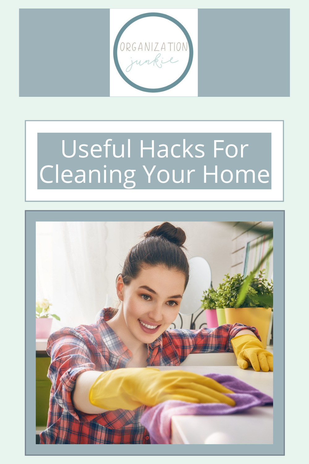 Organizationjunkie.com has the best hacks for making cleaning and organizing easier and more fun! Check out these simple hacks that will make your housekeeping go by quickly.