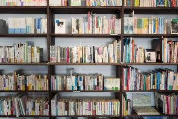 Use bookshelves to organize your room