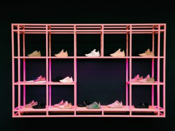 Use wall shelves for your shoes