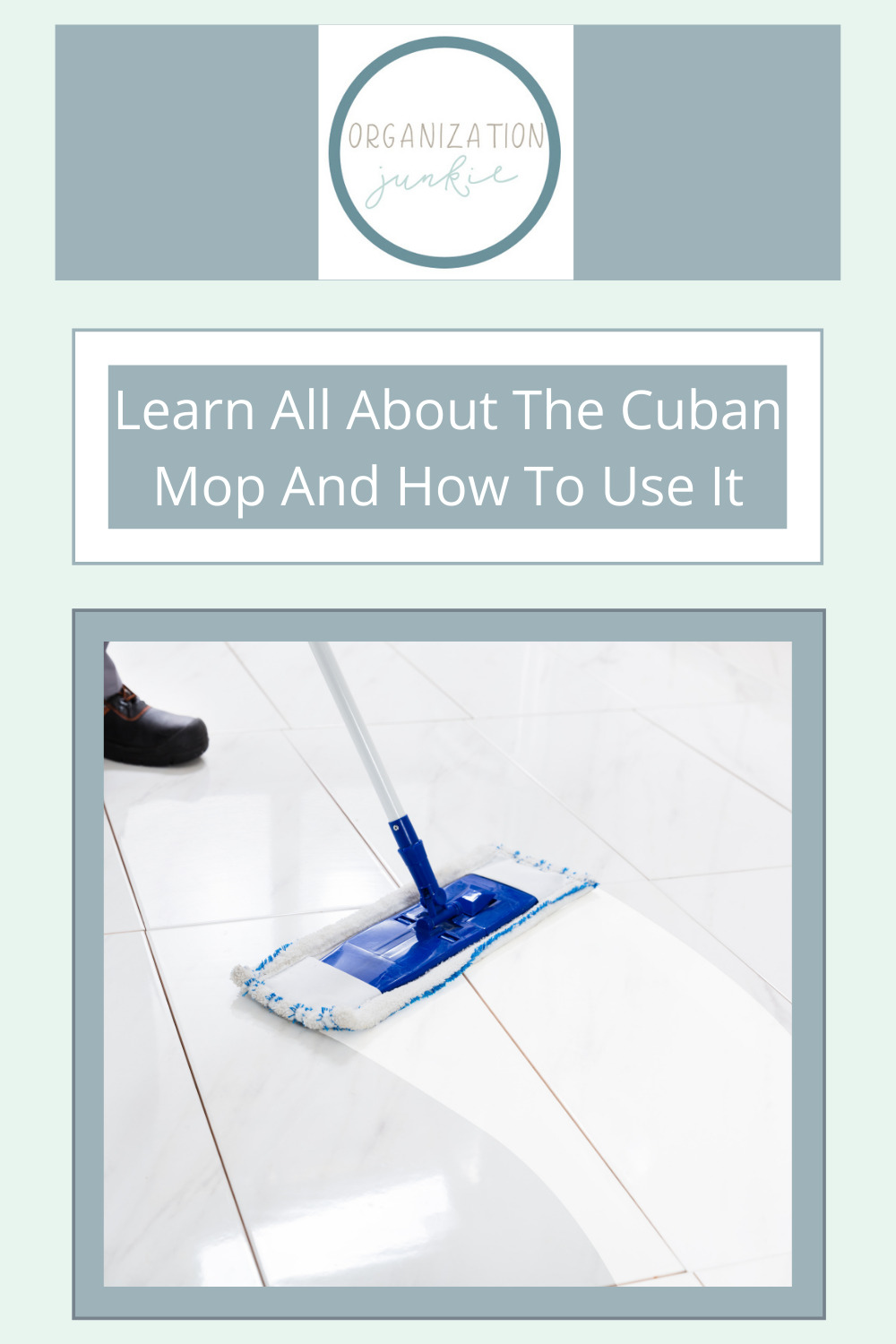 Organizationjunkie.com is the ultimate resource for creative organization and cleaning solutions! Don't waste any more money or trash on traditional Swiffer mops! Check out these awesome Cuban mops for a more sustainable alternative.