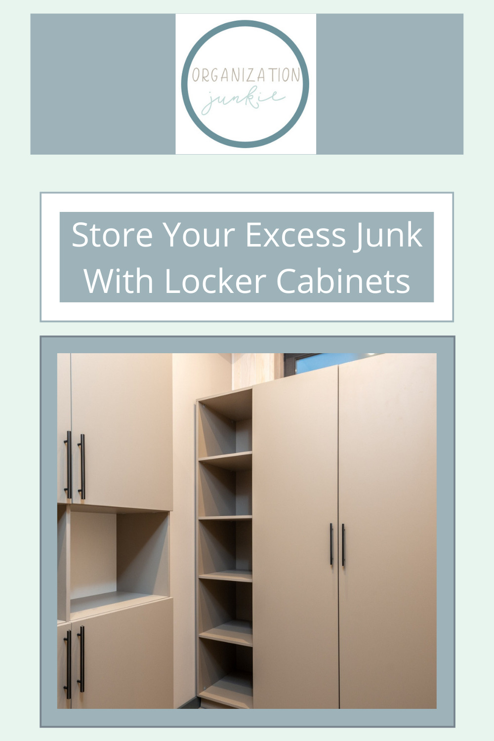 Organizationjunkie.com is stacked with creative ideas for keeping a clean and organized space. Find out how you can wipe out clutter in an instant. These clever ideas will have your craft room totally organized in no time!