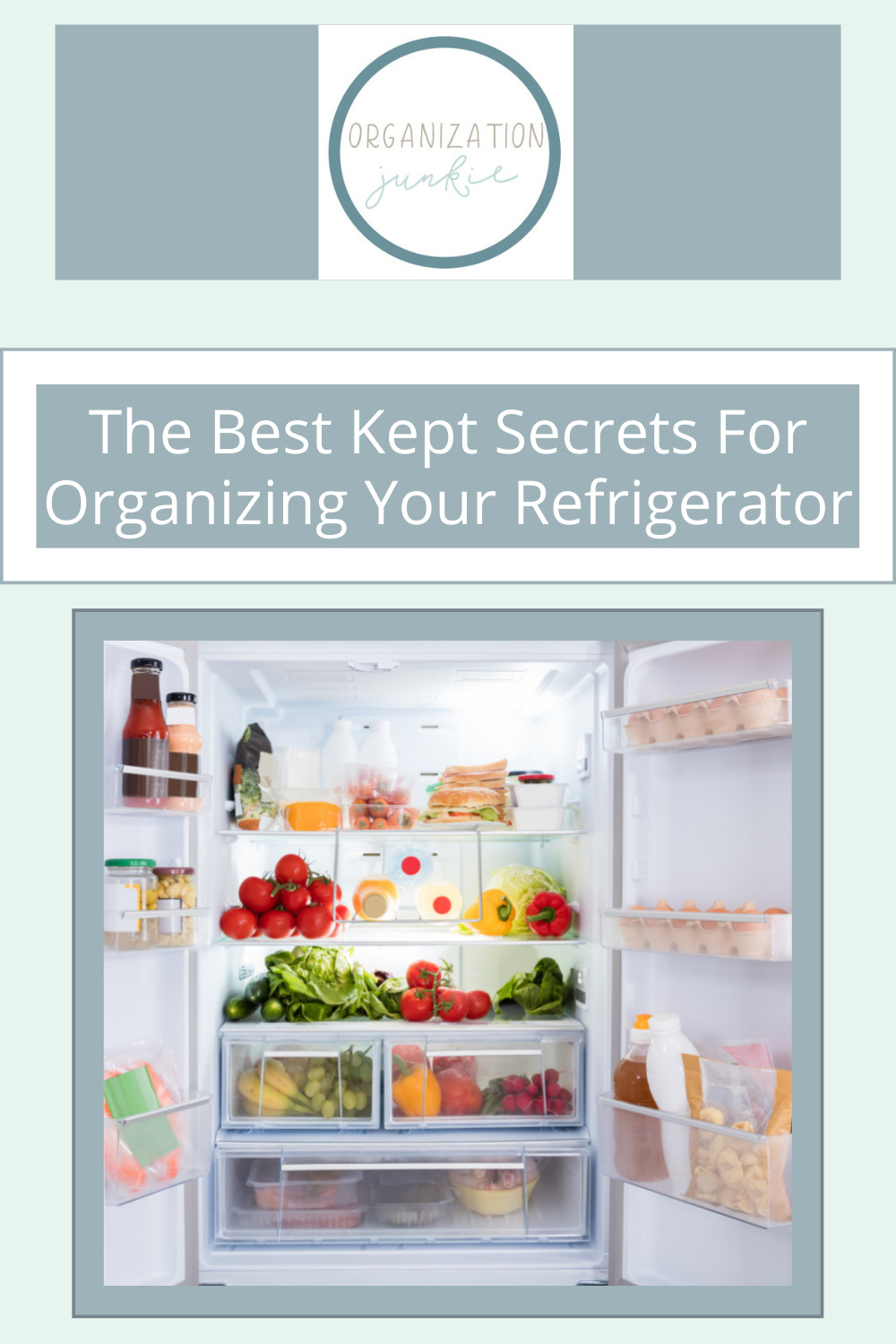 Organizationjunkie.com is stacked with creative ideas for keeping a clean and organized space. Find out how you can wipe out clutter in an instant. These clever ideas will have your fridge totally organized in no time!