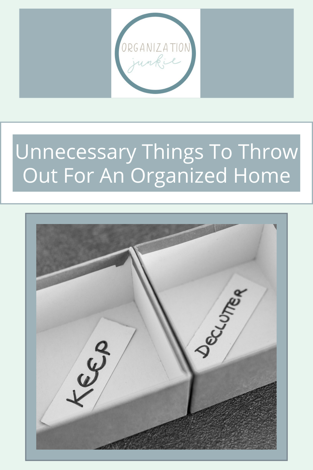 Organizationjunkie.com is the ultimate resource for creative organization and cleaning solutions! Don't waste any more space with unwanted clutter! Check out this list of things you don't need to keep around your home.
